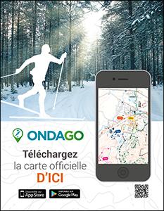 Affiche pour ski de fond et ski alpin